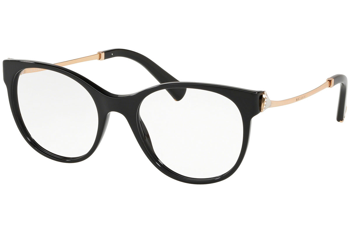 Bvlgari BV4160B 501. Frame color: Black, Lens color: Crystal, Frame shape: Cat Eye