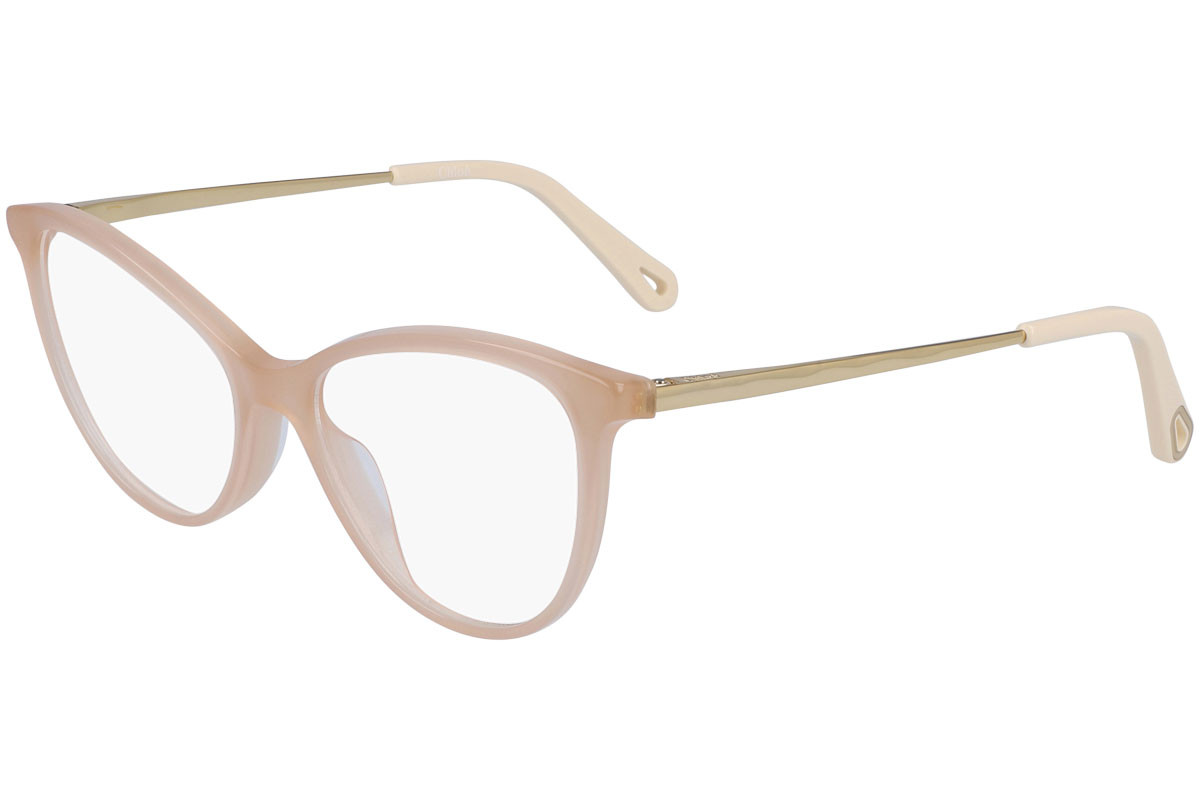 Chloe CE2748 725. Frame color: Beige, Lens color: Kristall, Frame shape: Cat Eye