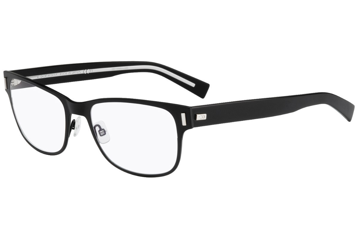 Dior Homme BlackTie 2.0G FSW. Frame color: Black, Lens color: Crystal, Frame shape: Squared