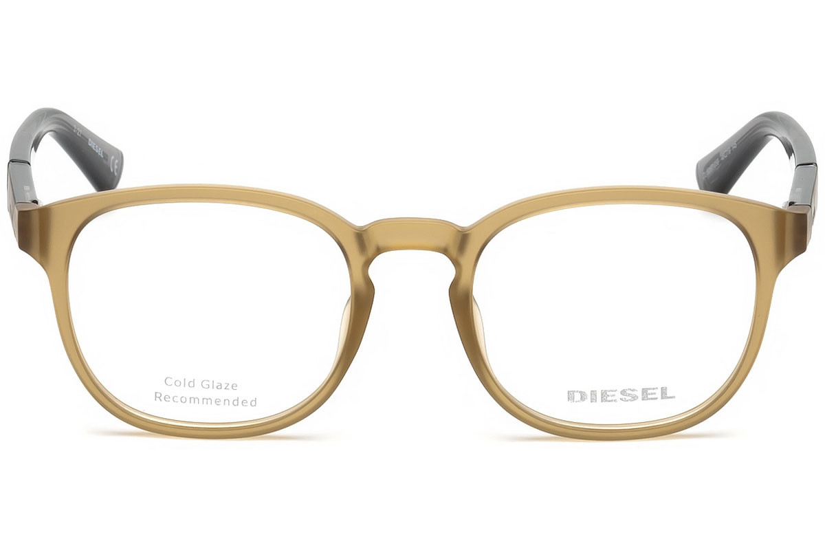 Diesel DL5267 058. Frame color: Brown, Lens color: Crystal, Frame shape: Squared