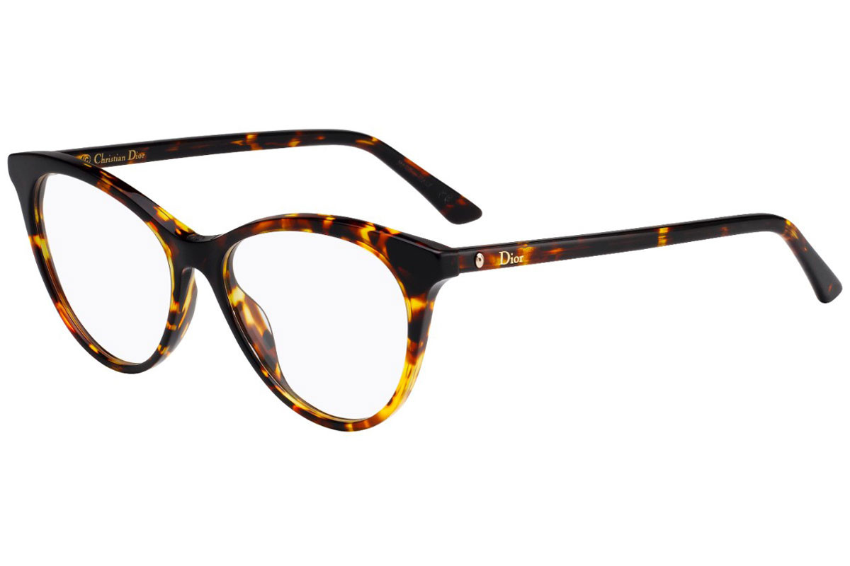 Dior Montaigne 57 086. Frame color: Хавана, Lens color: Кристална, Frame shape: Око на котка