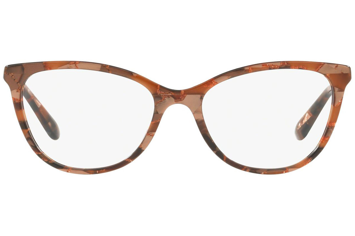 Dolce & Gabbana DG3258 3131. Frame color: Brown, Lens color: Crystal, Frame shape: Cat Eye
