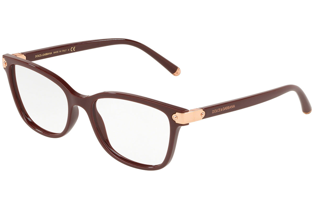 Dolce & Gabbana DG5036 3091. Frame color: Red, Lens color: Crystal, Frame shape: Squared