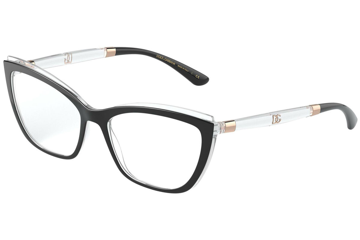 Dolce & Gabbana DG5054 675. Frame color: Schwarz, Lens color: Kristall, Frame shape: Cat Eye