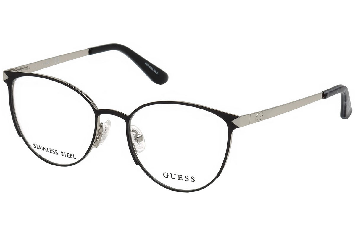 Guess GU2665 001. Frame color: Black, Lens color: Crystal, Frame shape: Round