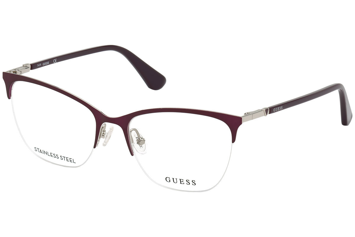 Guess GU2787 082. Frame color: Lila, Lens color: Kristall, Frame shape: Cat Eye
