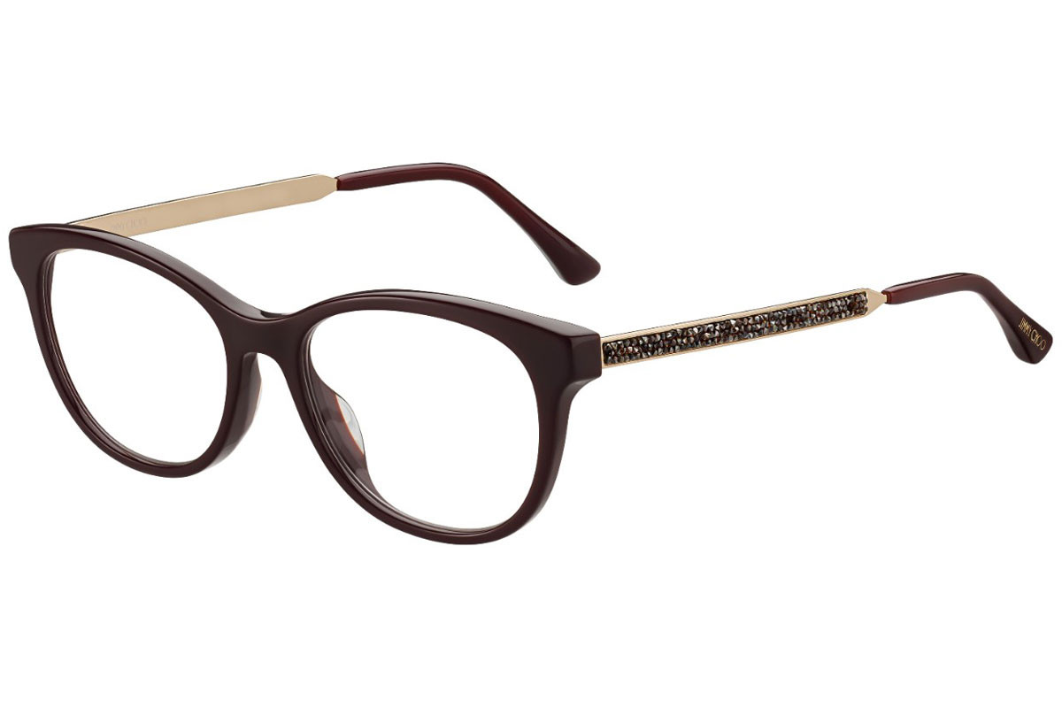 Jimmy Choo JC202 LHF. Frame color: Braun, Lens color: Kristall, Frame shape: Rund