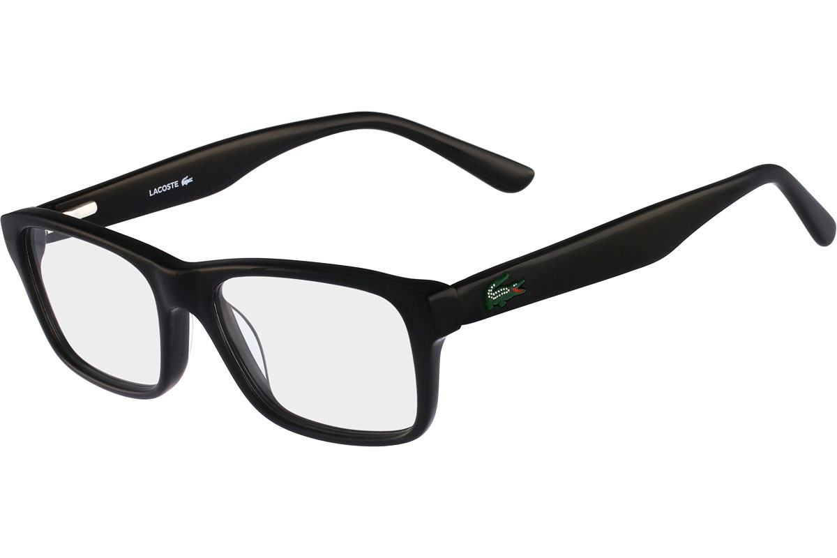 Lacoste L3612 001. Frame color: Black, Lens color: Crystal, Frame shape: Squared