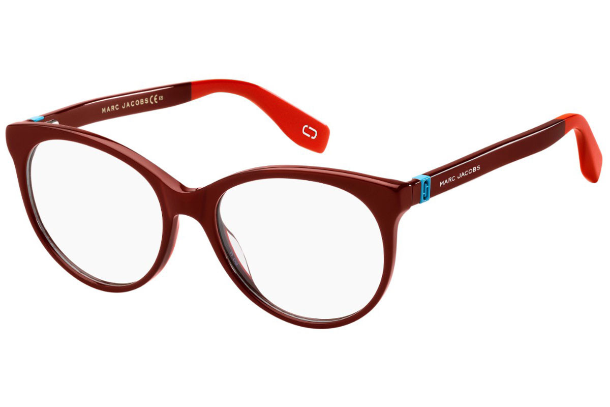 Marc Jacobs MARC350 LHF. Frame color: Red, Lens color: Crystal, Frame shape: Cat Eye