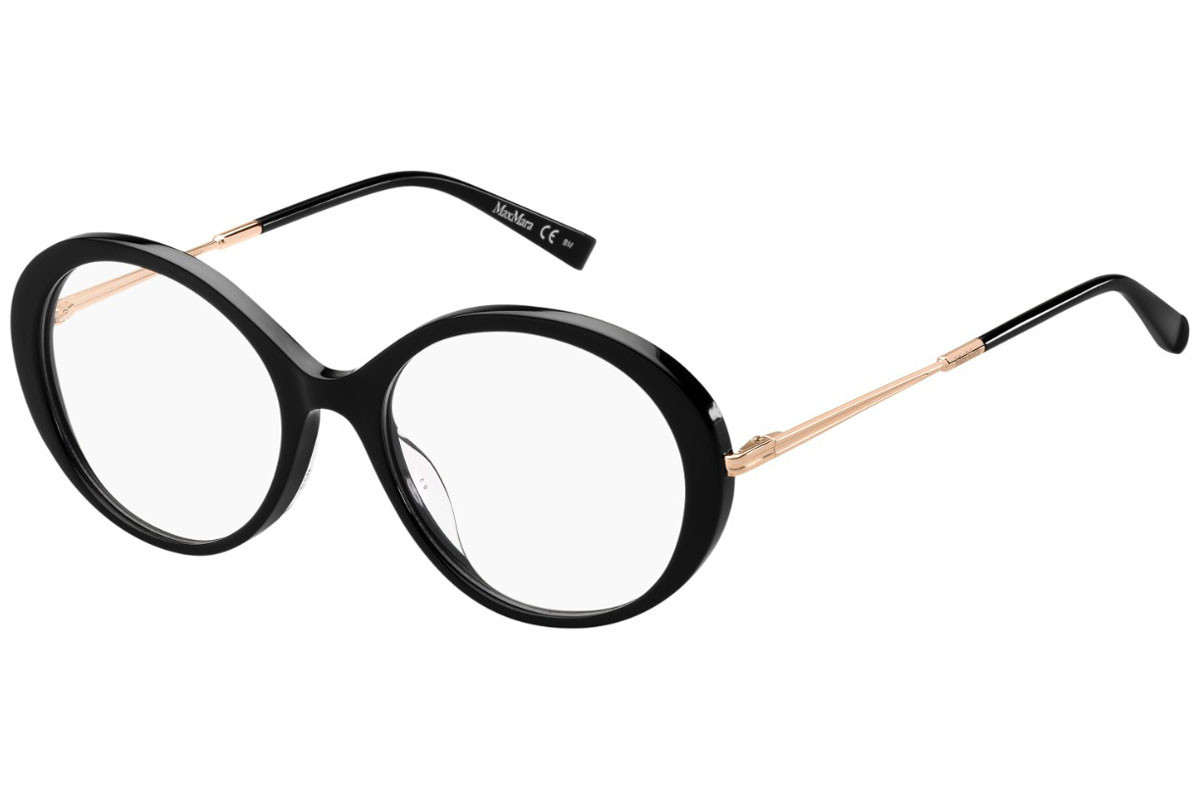 Max Mara MM1357/G 807. Frame color: Черна, Lens color: Кристална, Frame shape: Овални