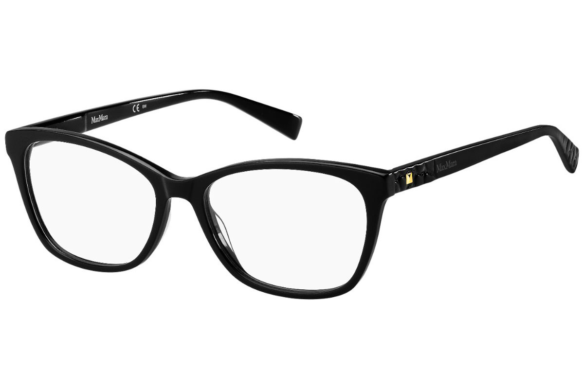 Max Mara MM1389 807. Frame color: Schwarz, Lens color: Kristall, Frame shape: Cat Eye