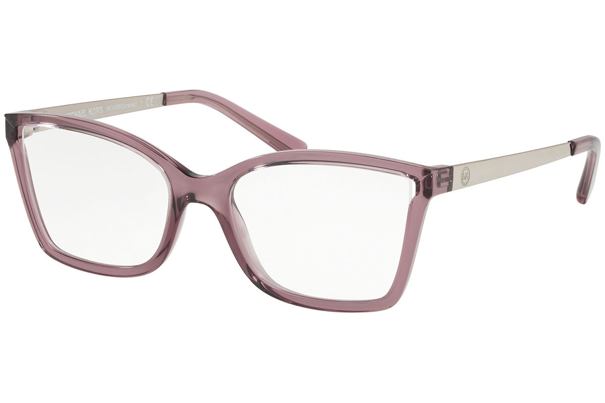 Michael Kors Caracas MK4058 3502. Frame color: Purple, Lens color: Crystal, Frame shape: Cat Eye