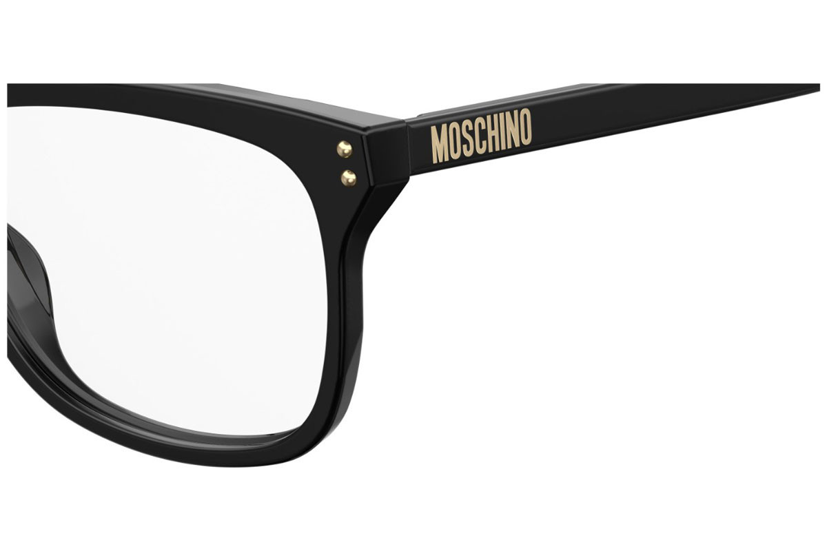 Moschino MOS501 807. Frame color: Black, Lens color: Crystal, Frame shape: Squared