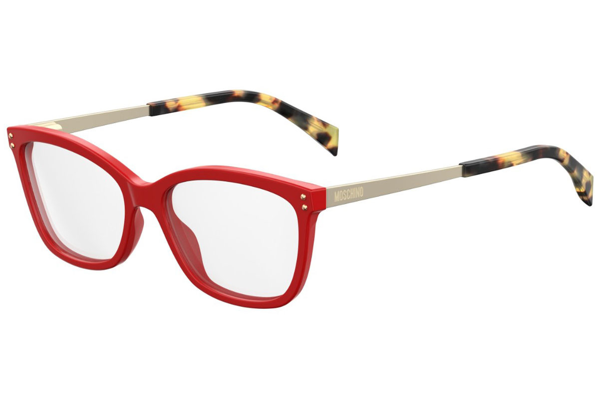 Moschino MOS504 C9A. Frame color: Red, Lens color: Crystal, Frame shape: Squared