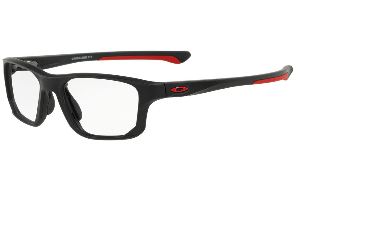 Oakley Crosslink Fit OX8136-04. Frame color: Schwarz, Lens color: Kristall, Frame shape: Rechteck