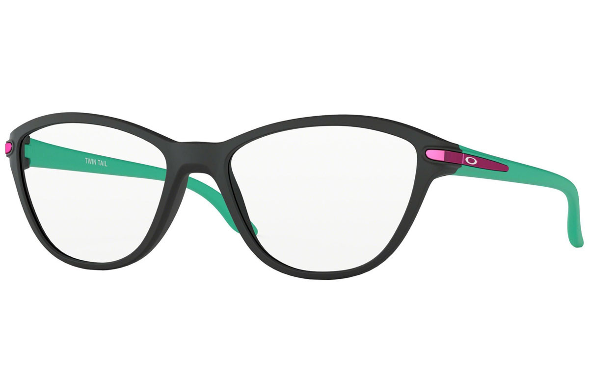 Oakley Twin Tail OY8008-01. Frame color: Schwarz, Lens color: Kristall, Frame shape: Cat Eye