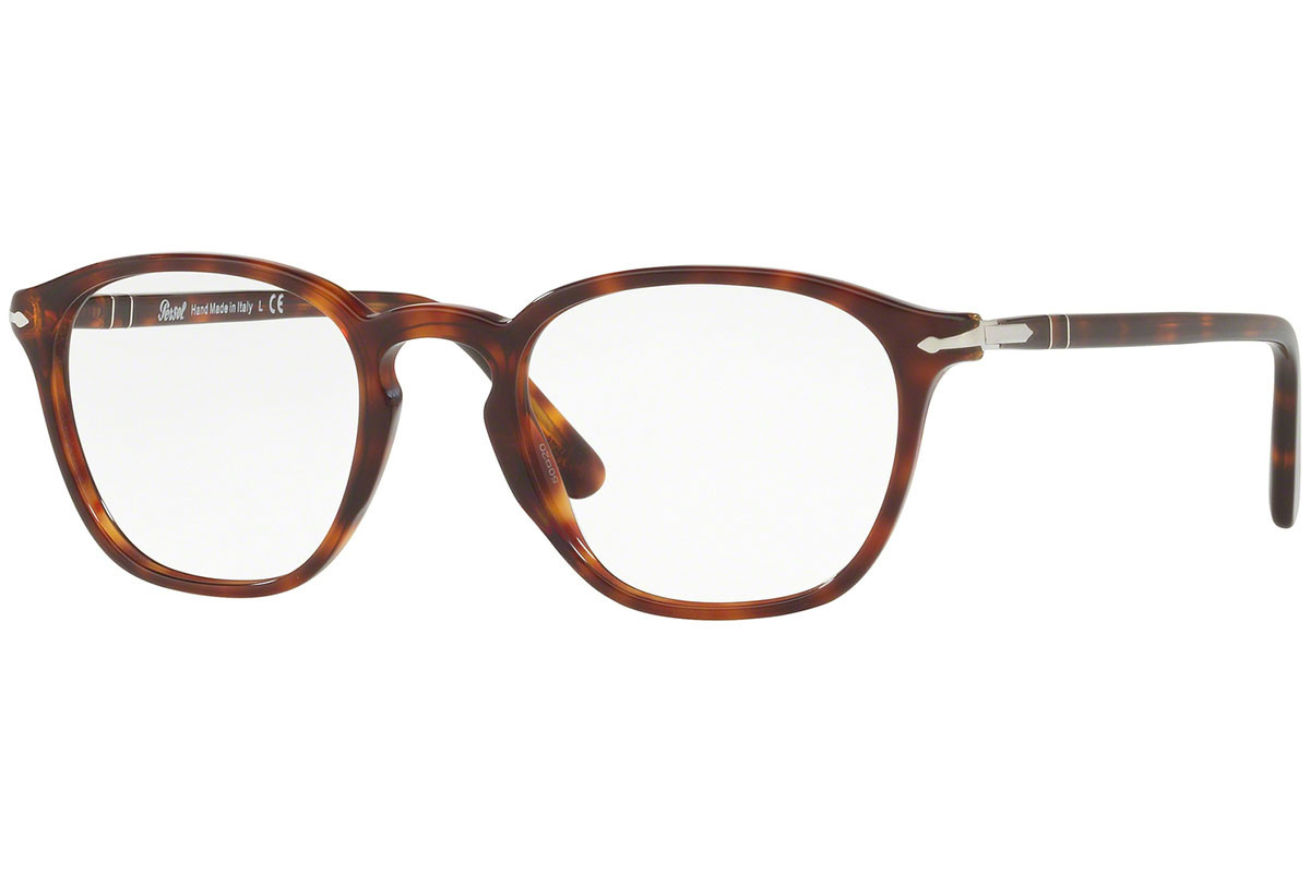 Persol PO3178V 24. Frame color: Havana, Lens color: Crystal, Frame shape: Squared