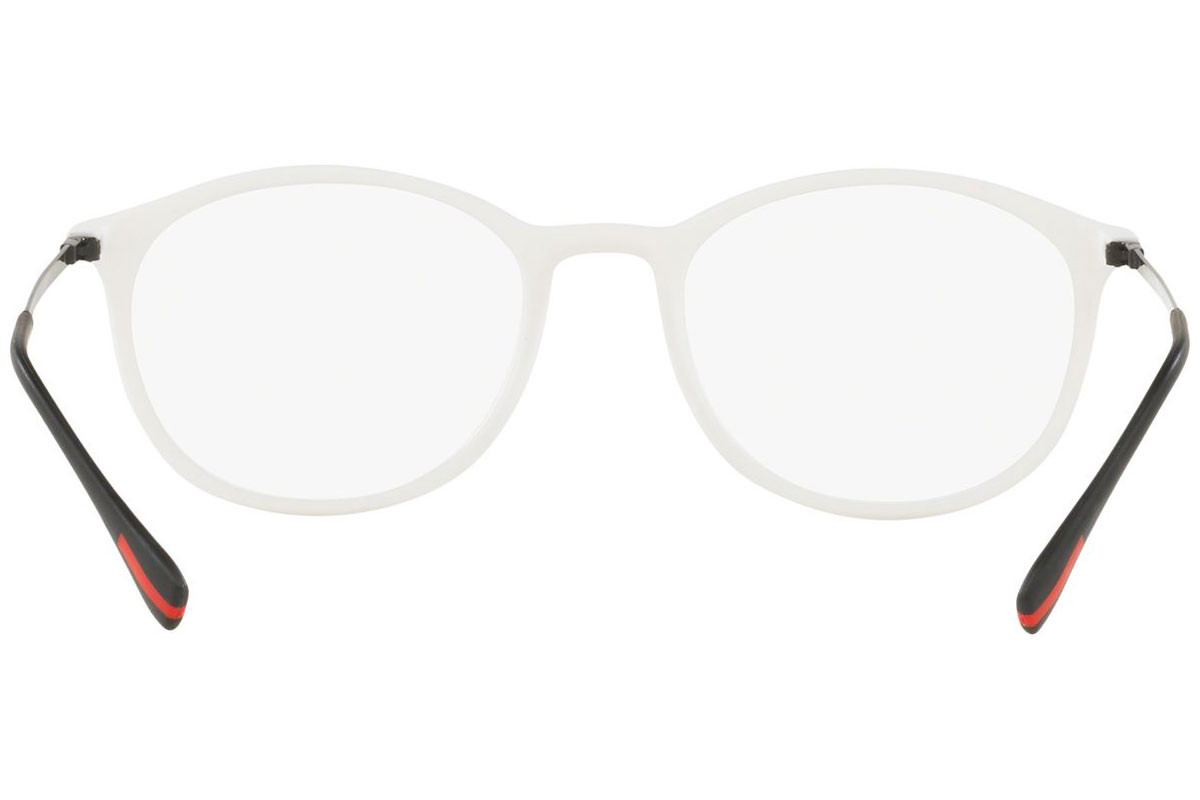Prada Linea Rossa PS04HV TWK1O1. Frame color: White, Lens color: Crystal, Frame shape: Round