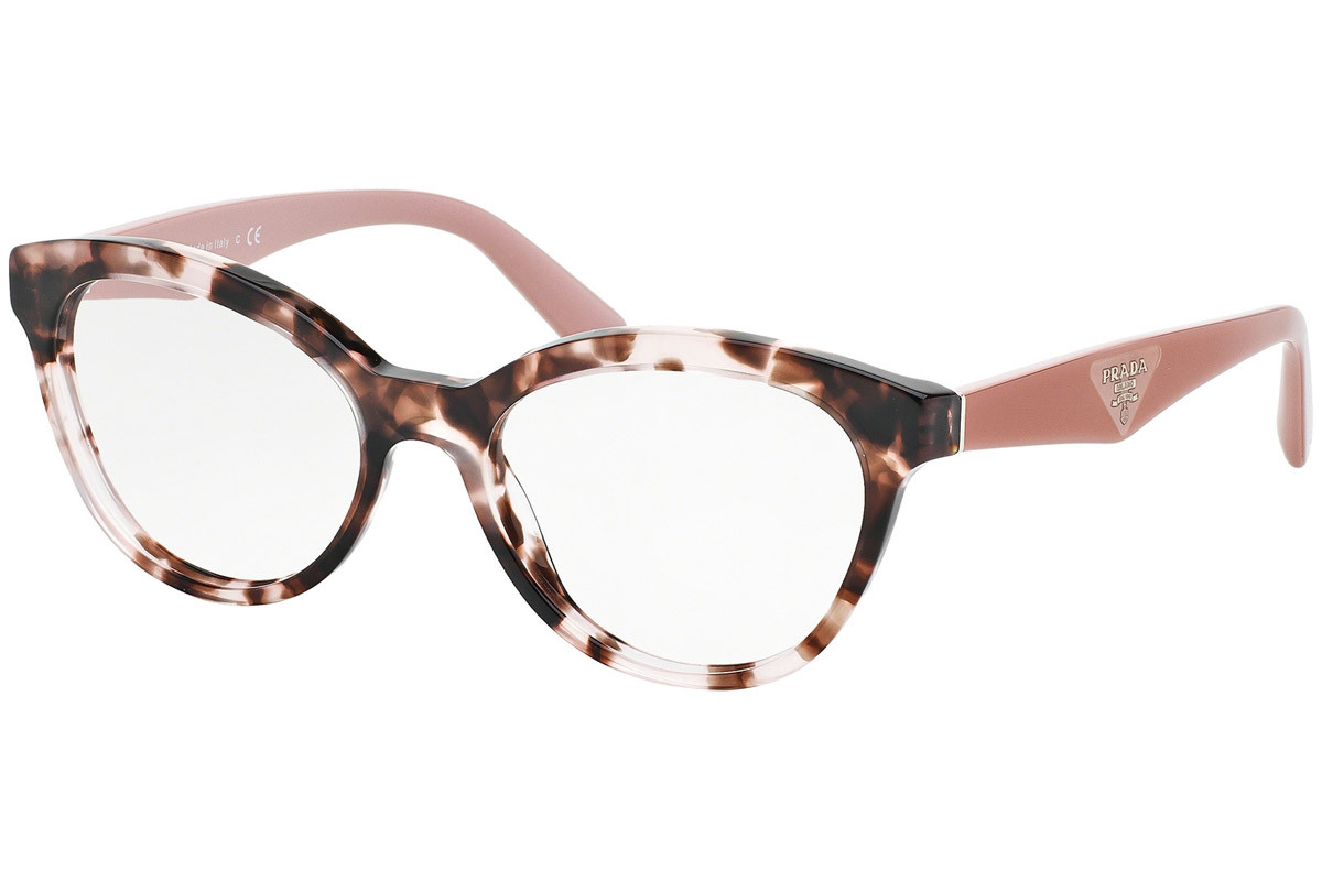 Prada PR11RV ROJ1O1. Frame color: Havanna, Lens color: Kristall, Frame shape: Cat Eye