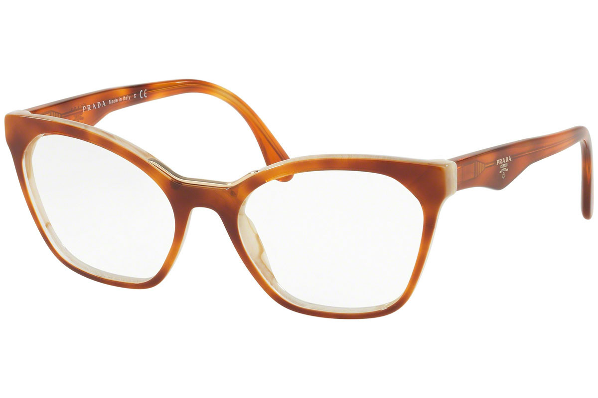 Prada PR09UV TH71O1. Frame color: Havana, Lens color: Kristalna, Frame shape: Pravokotna