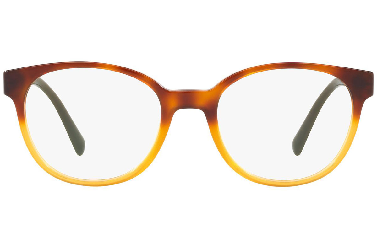 Prada PR10UV NKO1O1. Frame color: Brown, Lens color: Crystal, Frame shape: Squared