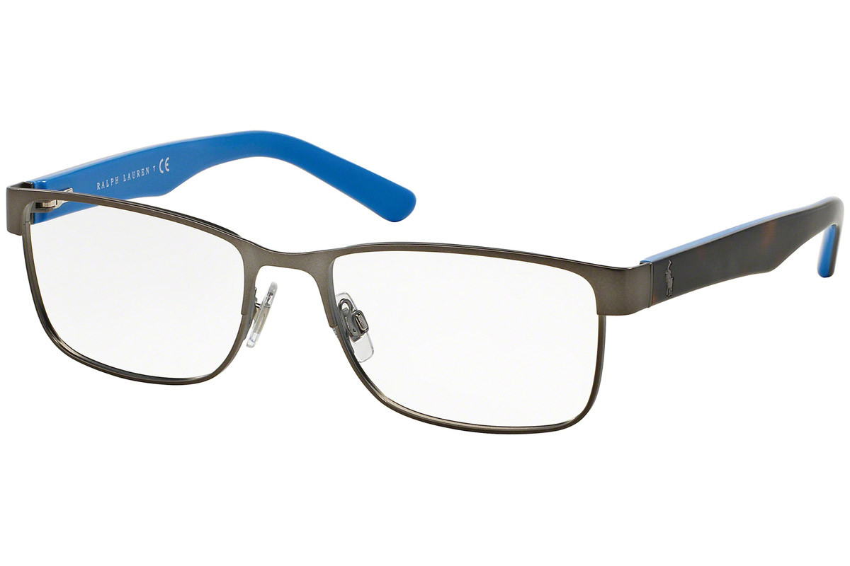 Polo Ralph Lauren PH1157 9050. Frame color: Grey, Lens color: Crystal, Frame shape: Rectangular