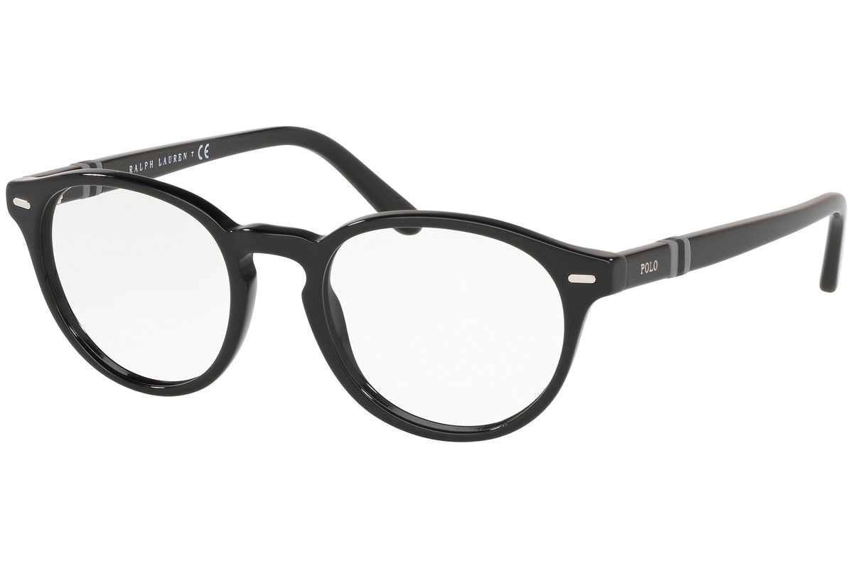 Polo Ralph Lauren PH2208 5001. Frame color: Black, Lens color: Crystal, Frame shape: Round