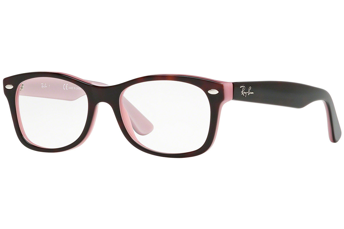 Ray-Ban Junior RY1528 3580. Frame color: Havanna, Lens color: Kristall, Frame shape: Quadratisch