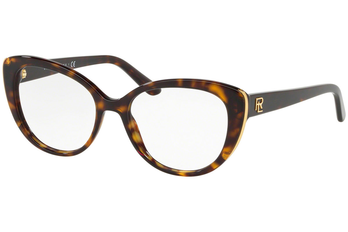 Ralph Lauren RL6172 5003. Frame color: Havana, Lens color: Crystal, Frame shape: Cat Eye