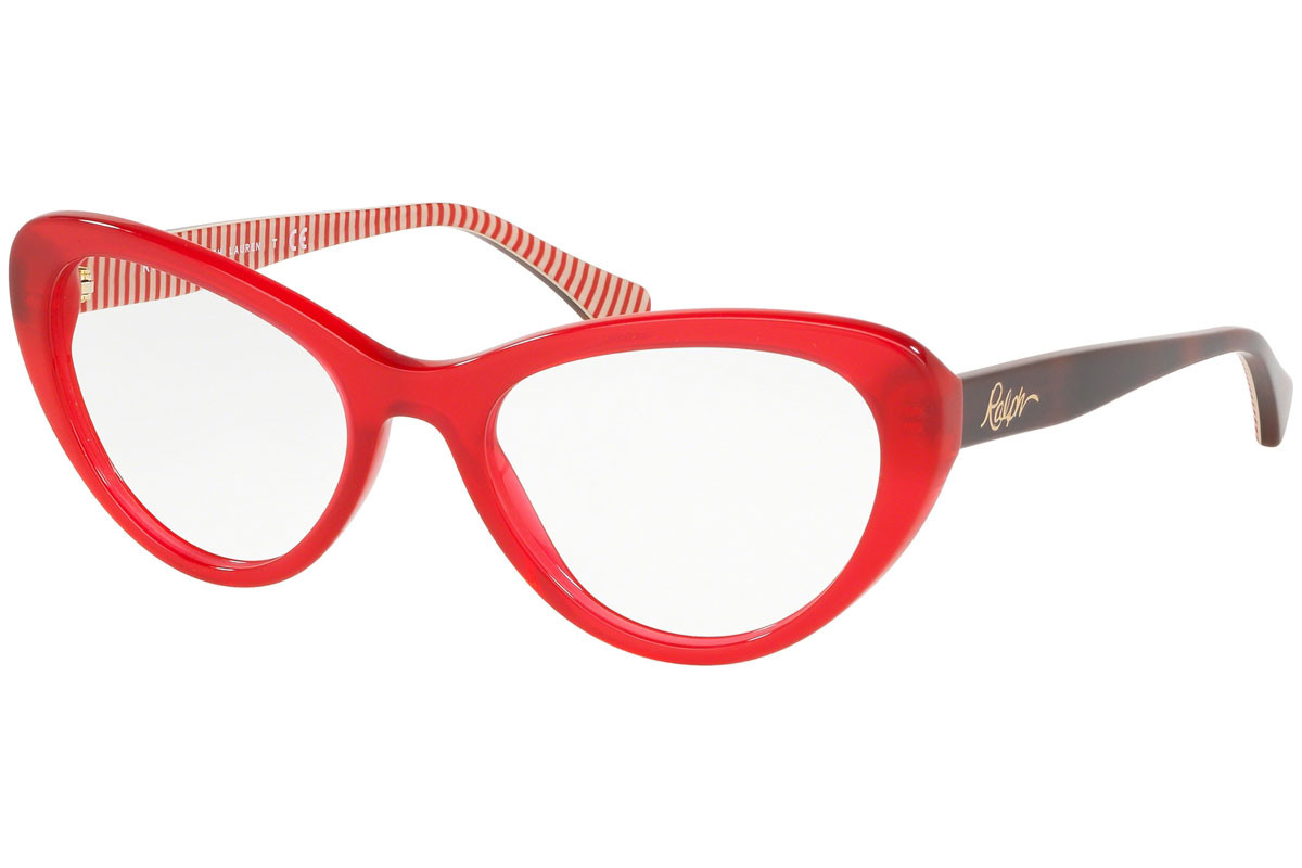 Ralph by Ralph Lauren RA7107 5785. Frame color: Rot, Lens color: Kristall, Frame shape: Cat Eye