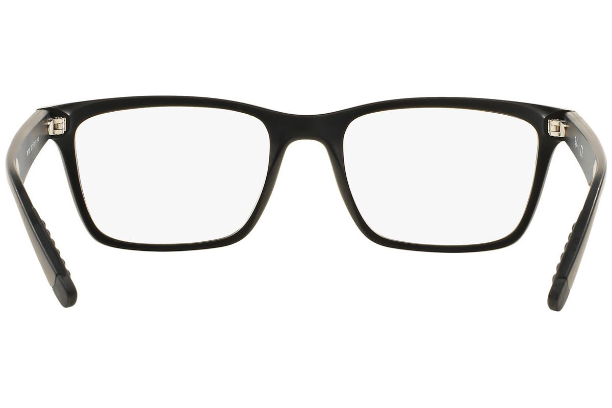 Ray-Ban RX7025 2077. Frame color: Black, Lens color: Crystal, Frame shape: Squared