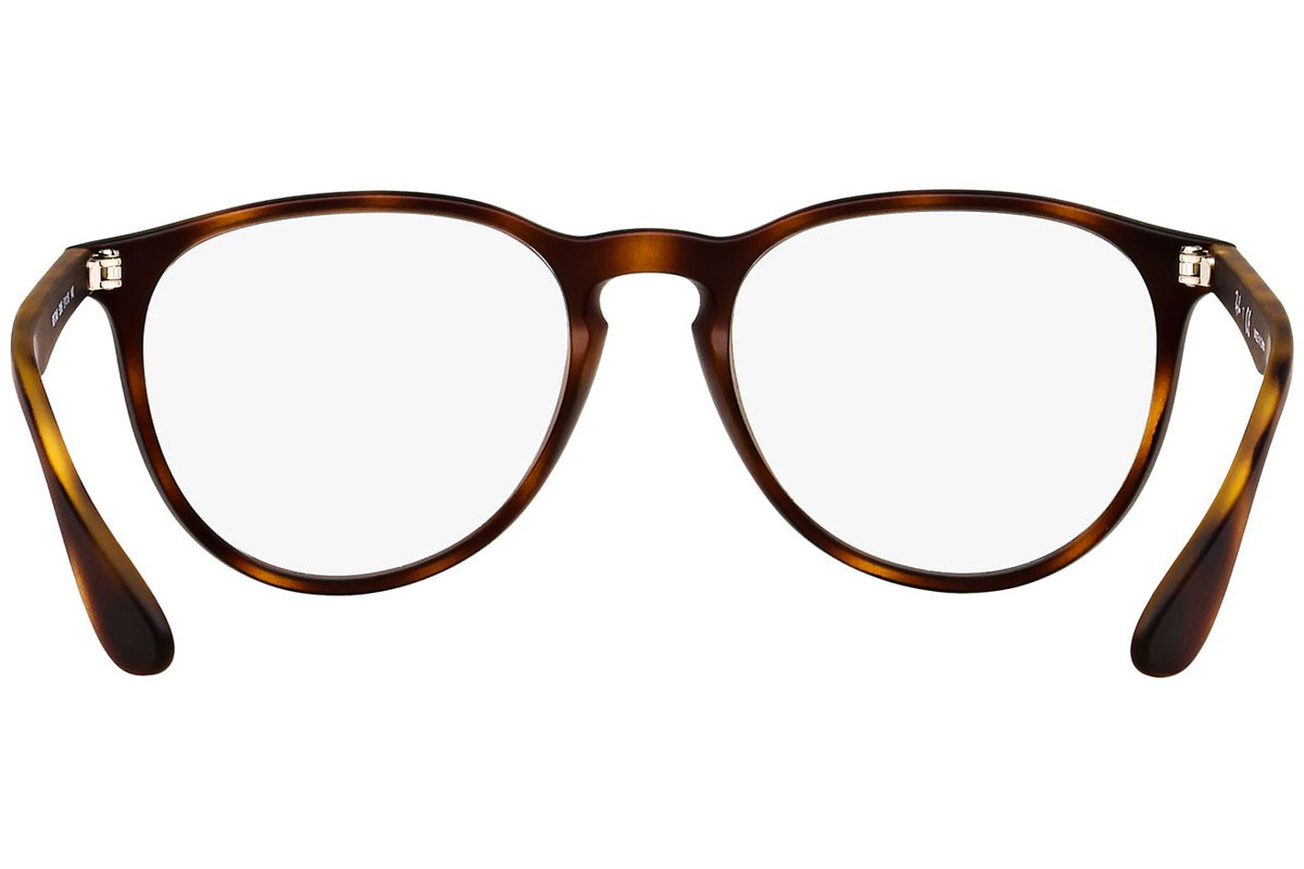 Ray-Ban RX7046 5365. Frame color: Havana, Lens color: Crystal, Frame shape: Squared