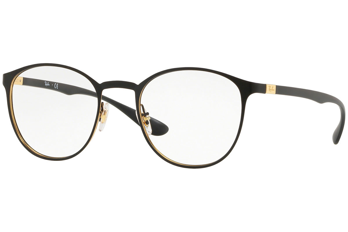 Ray-Ban RX6355 2994. Frame color: Black, Lens color: Crystal, Frame shape: Round
