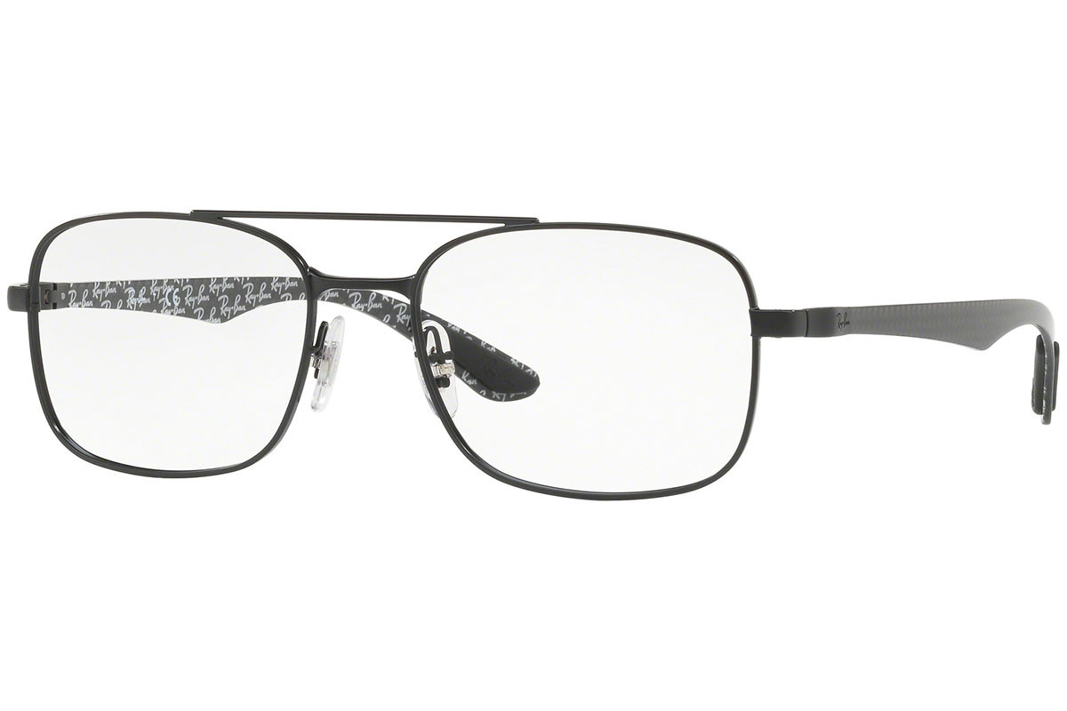 Ray-Ban RX8417 2760. Frame color: Black, Lens color: Crystal, Frame shape: Squared