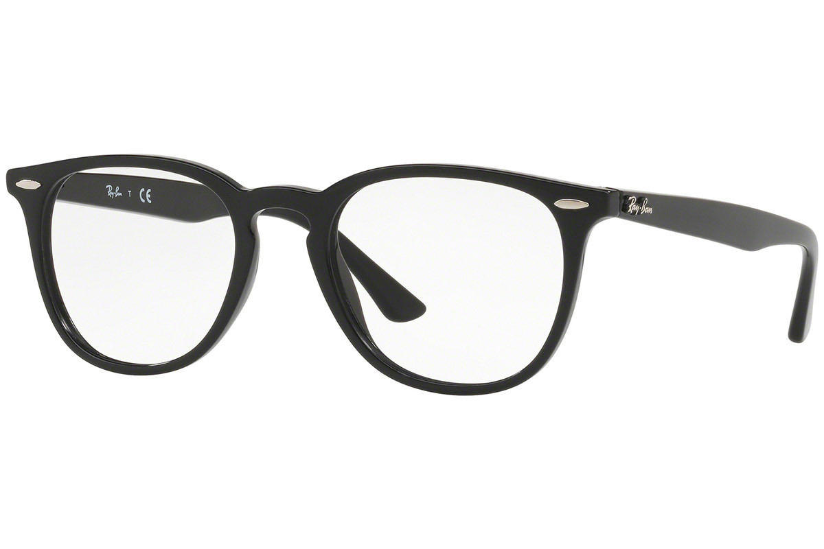 Ray-Ban RX7159 2000. Frame color: Schwarz, Lens color: Kristall, Frame shape: Quadratisch