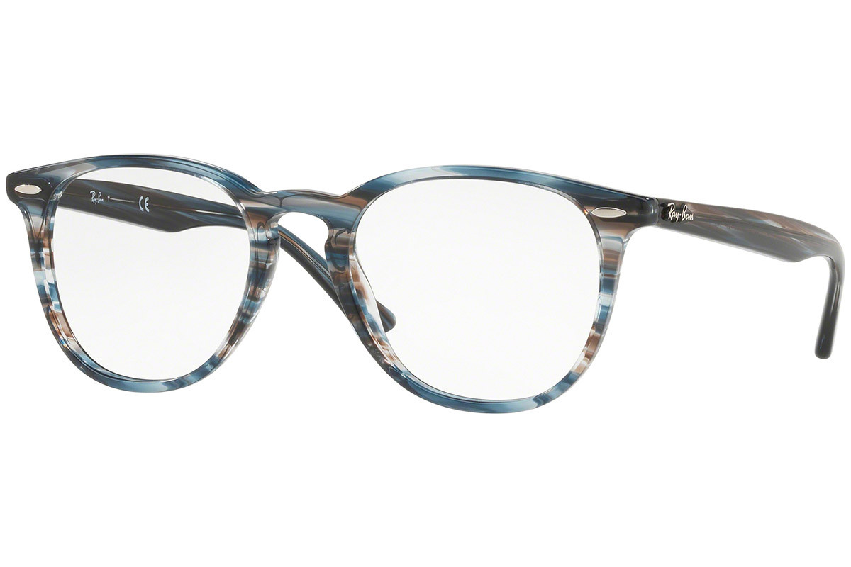Ray-Ban RX7159 5750. Frame color: Blue, Lens color: Crystal, Frame shape: Squared