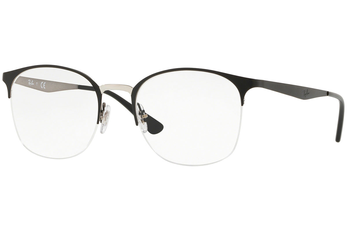 Ray-Ban RX6422 2997. Frame color: Schwarz, Lens color: Kristall, Frame shape: Quadratisch