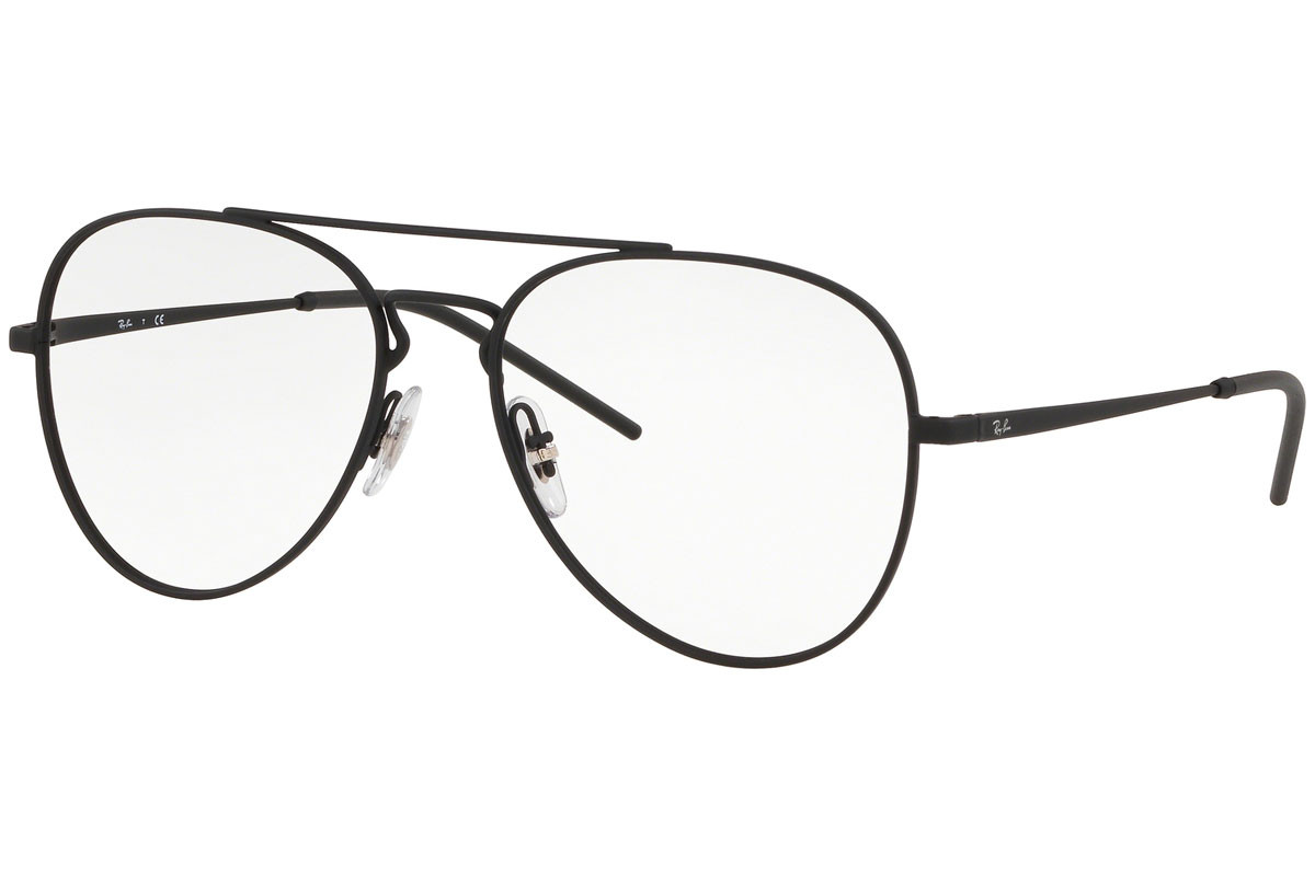 Ray-Ban RX6413 3044. Frame color: Black, Lens color: Crystal, Frame shape: Pilot