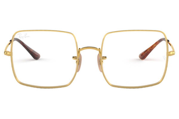 Ray-Ban RX1971V 2500. Frame color: Gold, Lens color: Crystal, Frame shape: Squared