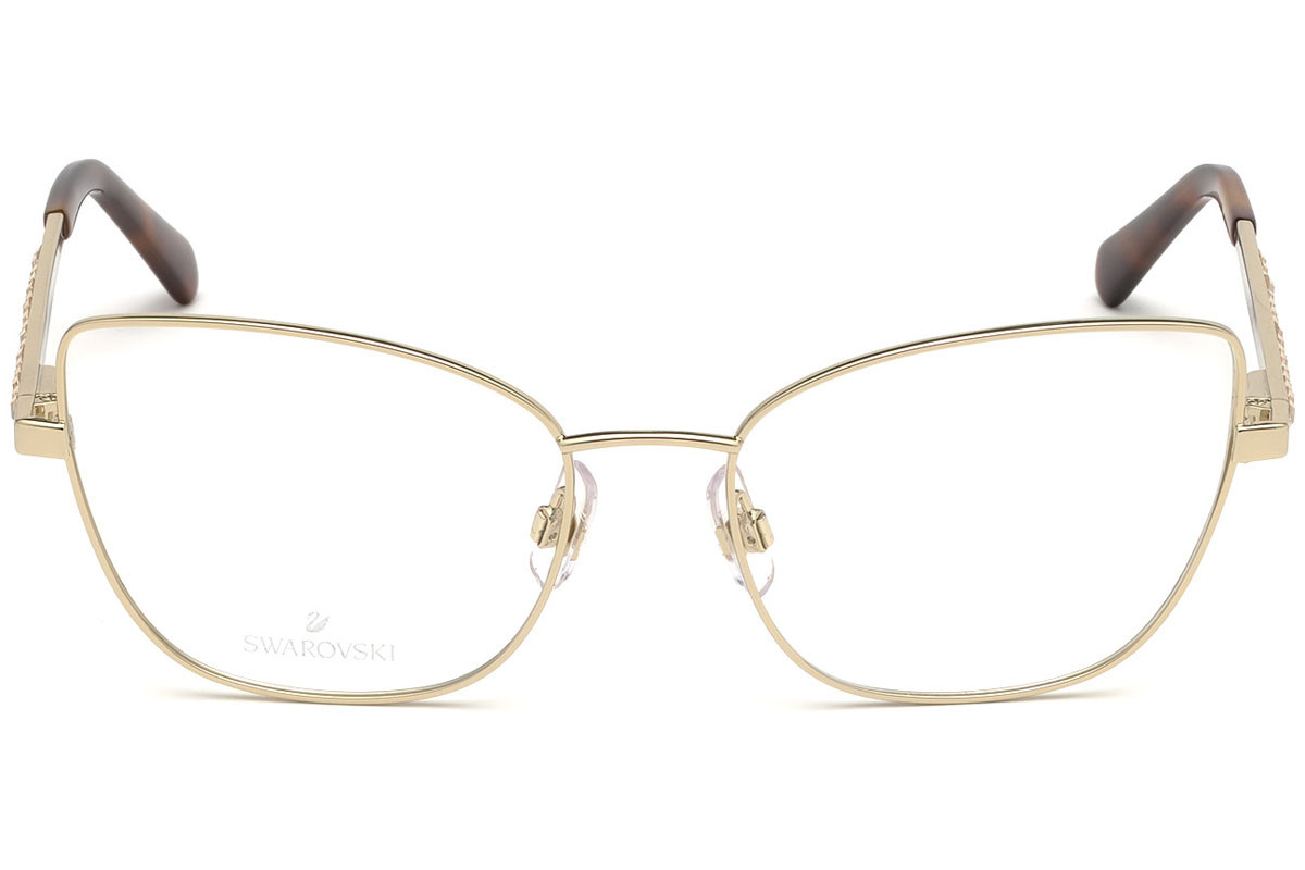 Swarovski SK5287 032. Frame color: Zlata, Lens color: Kristalna, Frame shape: Cat Eye