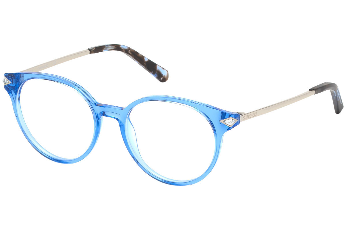 Swarovski SK5313 084. Frame color: Blue, Lens color: Crystal, Frame shape: Round