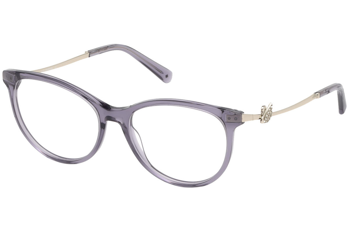 Swarovski SK5320 081. Frame color: Purple, Lens color: Crystal, Frame shape: Squared