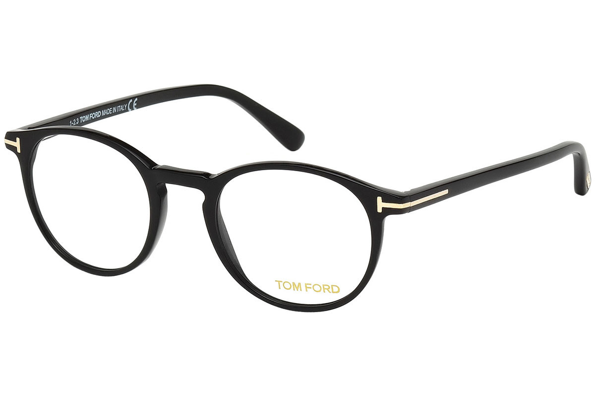 Tom Ford FT5294 001. Frame color: Черна, Lens color: Кристална, Frame shape: Заоблени