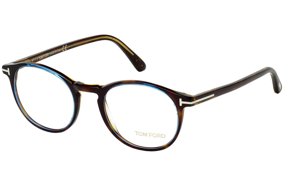 Tom Ford FT5294 056. Frame color: Havana, Lens color: Kristalni, Frame shape: Okrugao
