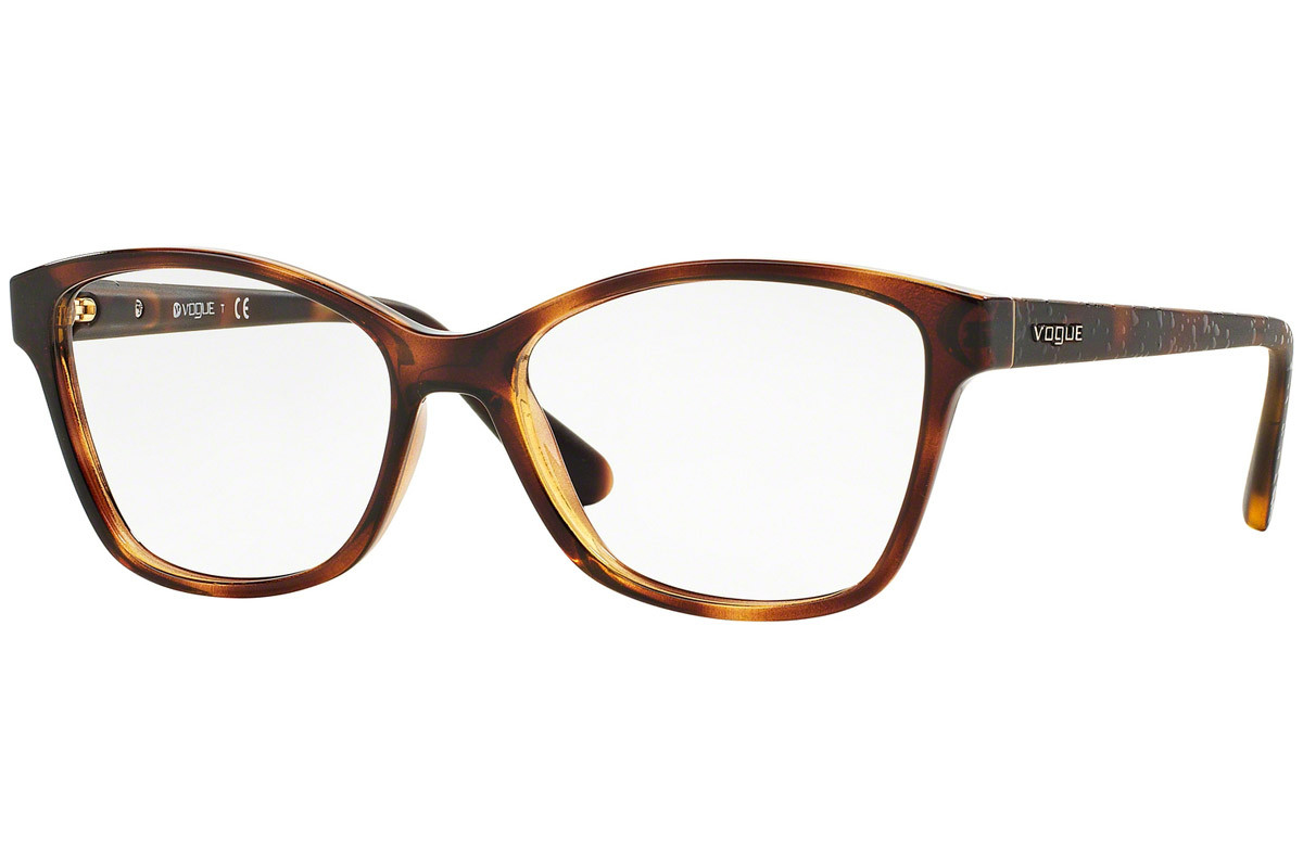 Vogue VO2998 W656. Frame color: Havana, Lens color: Kristalna, Frame shape: Kvadratna