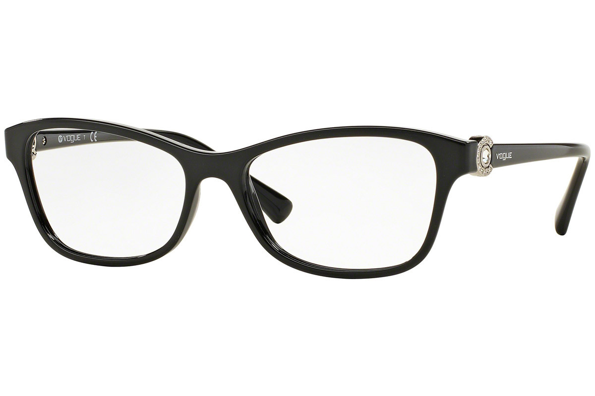 Vogue VO5002B W44. Frame color: Black, Lens color: Crystal, Frame shape: Squared