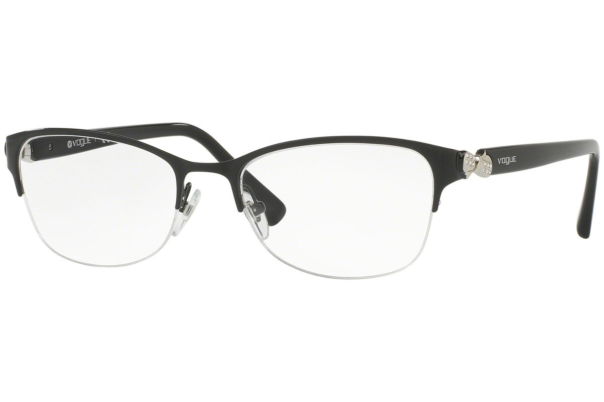 Vogue VO4027B 352. Frame color: Black, Lens color: Crystal, Frame shape: Rectangular