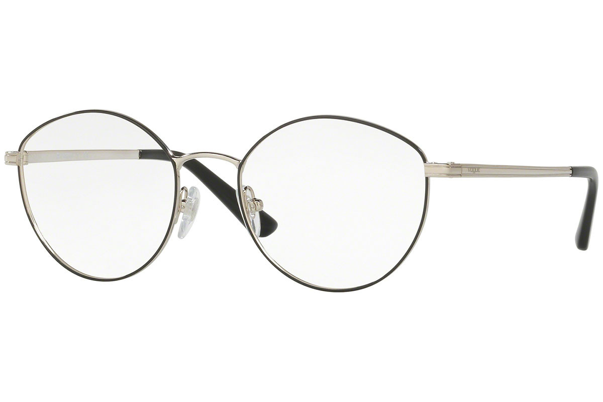 Vogue Light and Shine Collection VO4025 352. Frame color: Schwarz, Lens color: Kristall, Frame shape: Rund