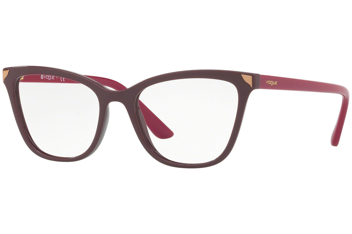 Vogue Metallic Beat Collection VO5206 2597. Frame color: Purple, Lens color: Crystal, Frame shape: Cat Eye