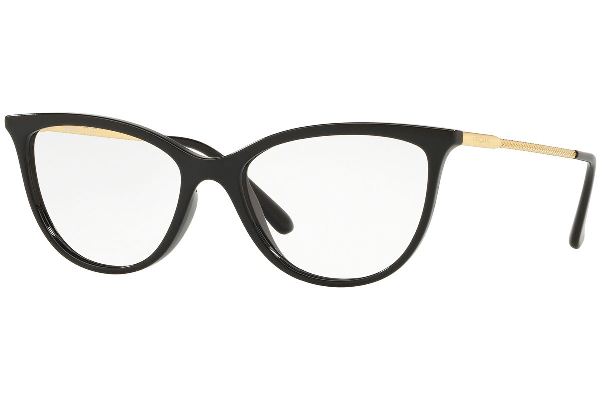 Vogue Color Rush Collection VO5239 W44. Frame color: Crni, Lens color: Kristalni, Frame shape: Cat Eye